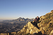 Puig Campana mountain from the Bernia Mountain range, Alicante province. Spain