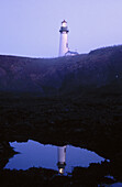 Sunset at Yaquina Head lighthouse. Oregon, USA