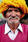 Portrait of an older aged Indian male
