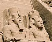 Statue detail of Ramses II at Abu Simbel, Egypt