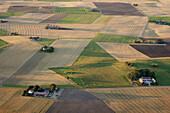 Agricultural field landscape. Skåne. Sweden