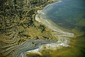 Seashore, old coastlines, sea, aerial view. Fårö. Gotland. Sweden.