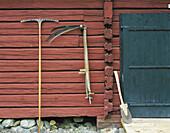 Social history, agricultural history, tools, barn, timber house. Vindeln. Västerbotten. Sweden