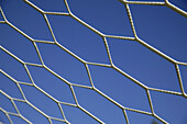 Background, Backgrounds, Blue, Blue sky, Close up, Close-up, Closeup, Color, Colour, Concept, Concepts, Daytime, Detail, Details, Exterior, Geometry, Net, Nets, Outdoor, Outdoors, Outside, Pattern, Patterns, Skies, Sky, N09-438055, agefotostock