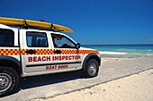 Vehicle of beach inspector, City Beach, Perth, Western Australia