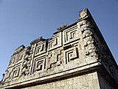 The Governors Palace in Uxmal, Pre-Columbian ruined city of the Maya civilization (late Classic period 600 - 900 A.D.). Yucatan, Mexico