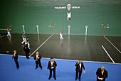 Betting intermediaries in the matches in pelota court. Tolosa.  Guipuzcoa province. Euskadi. Spain.
