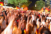 German soccer fans celebrating on the Kurfurstendamm, Berlin, Germany