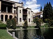Pool, Yuste monastery. Cáceres province, Extremadura, Spain