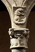Detail of column in the cloister, Yuste monastery. Cáceres province, Extremadura, Spain