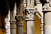 Detail of columns in the cloister, Yuste monastery. Cáceres province, Extremadura, Spain