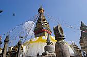 Buddhist Swayambhunath Stupa. Kathmandu, Nepal