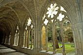 Cloister. Monastery Santa Maria de Veruela. Zaragoza. Aragon. Spain