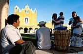 Vendors at the Convent of San Antonio, Izamal, Yucatan