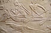 Relief. Egyptian Ruins. Saqqara. Egypt