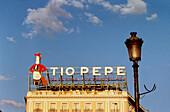 Tío Pepe sign at Puerta del Sol. Madrid, Spain