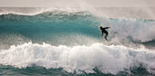 Surfer. West coast. Lanzarote. Canary Islands. Spain