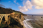 Bixby Bridge near Big Sur. Monterey County, California. USA