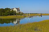 A house along the Harbor golf course, Wild Dunes Island Resort, Isle of Palms, near Charleston, South Carolina
