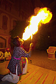 Fireeater, Cultural performance, Khimsar Fort Hotel, Khimsar, Rajasthan, India