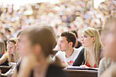 Students attending a lecture, Lecture theatre, Auditorium, University, Education