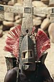 Mourning ceremony. Mask. Dogon Country. Mali.