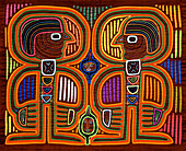 Mola, textile art by the Kuna people. Kuna Yala, San Blas, Panama