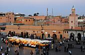 Jemaa El-Fna square. Marrakech, Morocco.