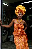 Woman in traditional dress. Salvador da Bahia. Brazil.