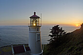 Heceta Head Lighthouse, Oregon Coast, USA. Shot at sunset, this is an angle not usually seen.