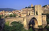 Besalú medieval town. Girona province, Catalonia, Spain
