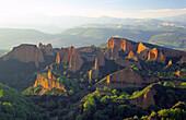 Landscape seen from Orellán viewpoint. Las Médulas, ancient roman gold mining site. León province. Spain