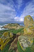 Santa María chapel. La Lanzada beach. O Grove. Pontevedra province. Galicia. Spain