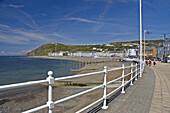 Seafront and promenade Aberystwyth Ceredigion Wales GB