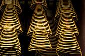 Incense in Man Mo Temple. Hong Kong, China