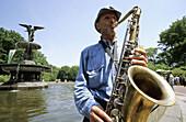 Musician. Central Park. Manhattan. New York City. United Sates