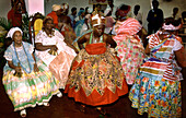 Women dancing at African candomble rituals, Salvador da Bahia, Brazil, South America
