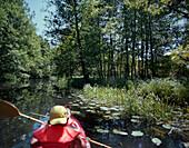 Canoeing tour in Spreewald, Lubbenau, Brandenburg, Germany