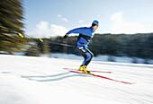 Cross country skier, man cross country skiing in a Winter landscape, Winter, Sport
