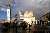 Town Hall and Perlach Tower, Augsburg, Bavaria, Germany