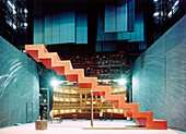 Interior view of the Semper Opera, Testing the lights for the opera Arabella by Richard Strauss, Dresden, Saxony, Germany, Europe