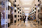 View inside the shopping mall Galleria, Hamburg, Germany