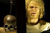 Pirat's skull at the Museum fuer Hamburgische Geschichte, Hamburg, Germany, Europe