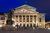National Theatre and monument Max I. Joseph, Munich, Bavaria, Germany
