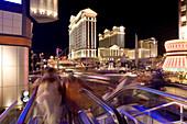 Las Vegas Boulevard, The Strip. Caesars Palace Hotel and Casino in the background, Las Vegas, Nevada, USA