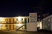Ville Inn Motel on Las Vegas Boulevard, The Strip, downtown Las Vegas, Nevada, USA