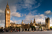 Houses of Parliament with Big Ben, clock tower, London, England, Europe