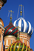 Domes of St. Bazils cathedral on the Red square, XVIth century. Moscow, Russia.