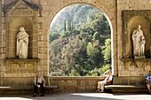 Basílica de Montserrat courtyard. Barcelona province, Catalunya. Spain
