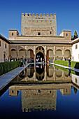 Patio de los Arrayanes. Alhambra. Granada. Andalucia. Spain.